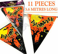 3.6M Halloween Bunting Garland decoration hanging bat pumpkin spooky Kids party