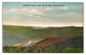 Deerfield Valley from the Outlook, Mohawk Trail, MA Hand-Colored Postcard *330