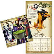 NEW 2018 Disney Villains 16 Month Wall Calendar Planner & Free Digital Wallpaper