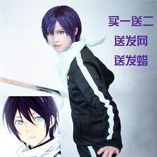 Noragami YATO GINTAMA Takasugi Shinsuke Black Purple Short Straight Cosplay Wig
