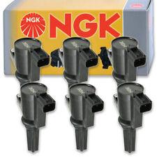 6 pcs NGK Ignition Coil for 2000-2005 Lincoln LS 3.0L V6 - Spark Plug Tune un