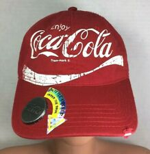 Coca Cola Red Baseball Cap with Attached Bottle Opener Frayed Brim