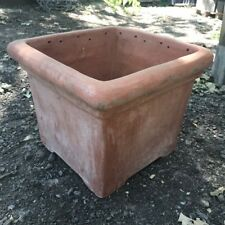 38cm CLEARANCE Terracini Baytree Square Garden Planter/Terracotta Plant Pot