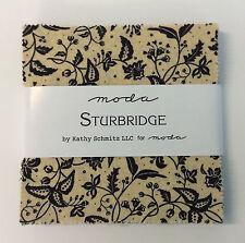 """Sturbridge by Kathy Schmitz - fabric Charm Squares- 42 x 5"""" squares Moda"""
