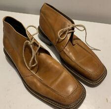 Hand Made Boston Ankle Boots Chukka Vero Cuoio Lavorazione Artigiana 43.5 9.5