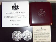 Medaglia Argento San Marino 2009 Repubblica Cinese Silver Medal China Republic