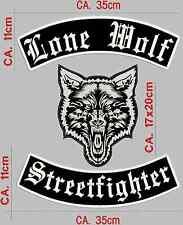 Lone Wolf Streetfighter Rückenpatch, Aufnäher