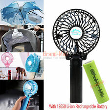 Pocket Portable Handheld Foldable USB Clip On Mini Fan with Rechargeable Battery