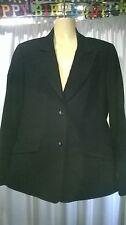 Womans Rockmans Jacket, Black, Size 12, Lined
