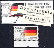 """32) Bund MiNr 1463 ** Feld 48 aus Typ I mit 1x """"SKM"""" Seitenkantenmarkierung"""