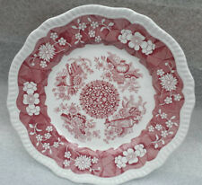 Spode Dinner Plate 11in Regency Series Trophies Archive Pink Floral 1825 Repro