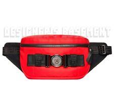 VERSACE red nylon Greca LOGO MEDUSA Buckle waist Pack BUM bag NWT Authentic $695