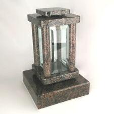 Grabschmuck Grablampe Grablaterne Friedhofslampe Grab Grabvase Granit Paradiso