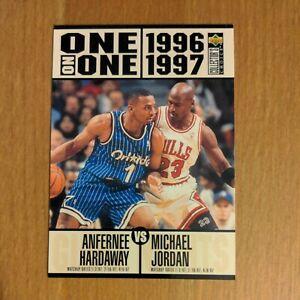Michael Jordan Anfernee Hardaway 1996-97 Collector's Choice One On One #356