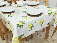 140x200cm RECTANGLE PVC/VINYL WIPECLEAN TABLECLOTH - LEMONS