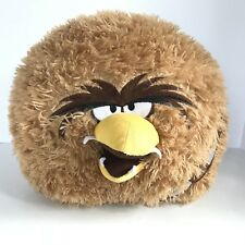 "ANGRY BIRDS Large STAR WARS 16"" Brown Plush CHEWBACCA Pillow Large Ball Round"