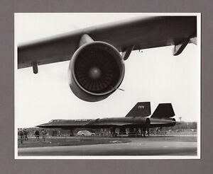LOCKHEED SR-71 BLACKBIRD LARGE VINTAGE ORIGINAL MOD PHOTO US AIR FORCE 2