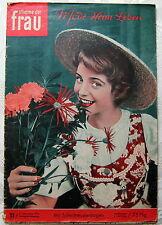 Mode Zeitschrift Stimme der Frau SchnittmusterBogen Brautkleider 11 1954 Vintage