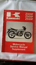 Kawasaki Z400F Z500F Z550F ZR A1 Motorcycle Service Manual Supplement 1983