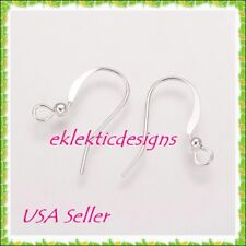 20pc Silver Plated BRASS French Fish Wire Hook Bead 18mm Earrings 10pr Finding