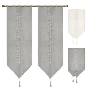 Curtain Window Port Internal Pair Various Sizes Fabric Light Semitransparent