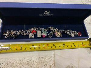 stunning swarovski crystal charm bracelet and charms