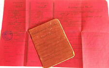 pre war latvian reservist  identity book with certificate
