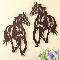 """Horse Rustic Metal Hanging Wall Art Sculpture Western Indoor/Outdoor Decor 17""""H"""