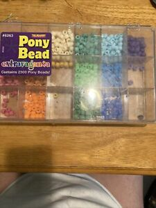 Pony Bead Assortment, Pastel Colors, Used!