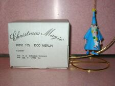 Grolier Disney Christmas Ornament Merlin #153 MIB Sword in the Stone Wizard