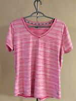 RBX Performance Women's Size Large Pink Fitness Running Athletic Top Stretch