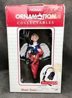 Vintage 1989 Noma Ornamotion Rotating Angel Christmas Ornament In Box! #2350