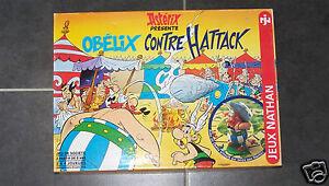 @$ JEU DE SOCIETE ASTERIX PRESENTE OBELIX CONTRE HATTACK, 1996 JEUX NATHAN
