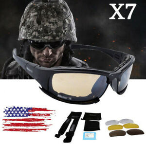 Daisy X7 UVA/UVB Tactical Military Style Glasses Goggles Motorcycle Sunglasses