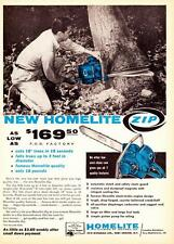 Vintage ad Homelite Chain Saws 1959  Man Cave Art!