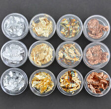 Pro 12 Piezas 4 Colores uñas artísticas Acrílico Soak Off Ultra Delgado Aluminio Hoja # 87n