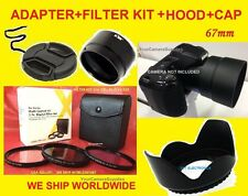 CAMERA ADAPTER+FILTER KIT+HOOD+LENS CAP 67mm TO NIKON COOLPIX L330 L 330 L320