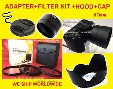 CAMERA ADAPTER+FILTER KIT+HOOD+LENS CAP 67mm TO NIKON COOLPIX L330 L 330 L320