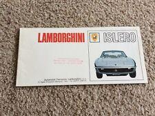 1960s lamborghini  Islero   original dealership showroom sales handout