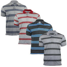 Men's Striped Short Sleeved Casual Holiday Jersey Summer Polo T-Shirt Tops S-2XL