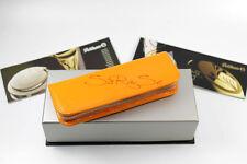 Pélican Stylo à plume, à bille 2 instruments d'écriture étui cuir vernis jaune