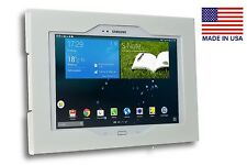 Samsung Galaxy TAB 3 4 10.1 White Anti Theft Wall Mount, Metal, Easy push Lock