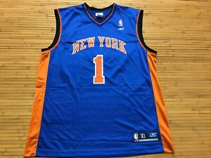 MENS XL - Vtg NBA New York Knicks #1 Chester Reebok Printed Jersey