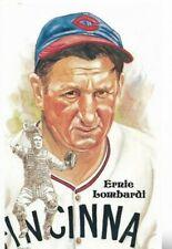Ernie Lombardi Perez-Steele Hall of Fame Art Postcard Cincinnati Reds #195