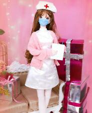 Fashion Nurse Suit Outfit Clothes Uniform for 1/3 SD BJD Doll 5 Pcs Full Set AOD