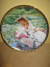 1990 Reflections of Love*Kuck Reco Collector Plate Mother Son Boat Sailor