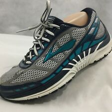 BROOKS Dyad 8 Sz 8 Wide Gray Blue Running Shoes Athletic Sneakers Running