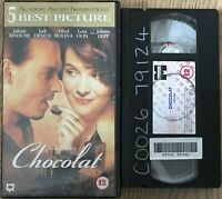 Chocolat (Pal VHS) Judi Dench, Johnny Depp, Carrie-Anne Moss