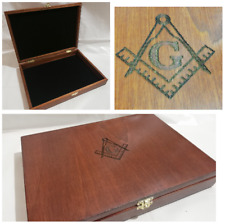 Masonic Box for Items Collectibles Case Collectables Die Cut Emboss