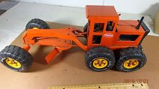 Vintage 1970s Pressed Steel TONKA Road Grader Orange